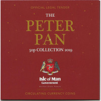 2019 Peter Pan 50p Coin Set Isle of Man
