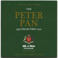 The 2020 Peter Pan 50p Coin Set Isle Of Man