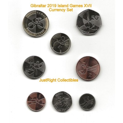 Gibraltar 2019 Island Games Coin Set