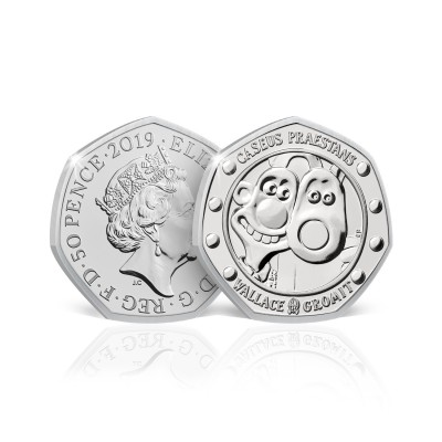 2019 Wallace and Gromit UK 50p Brilliant Uncirculated