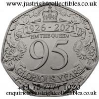 2021 Gibraltar Queen 95th Birthday 50p coin Pre Order