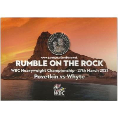 2021 Gibraltar Rumble on the Rock WBC £2 Coloured Coin
