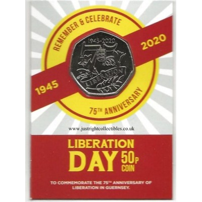 Guernsey Liberation Day 75th Anniversary Limited Edition 50p Coin