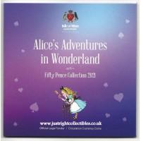 ALICE'S ADVENTURES IN WONDERLAND 50P Coin SET