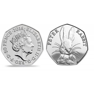 2016 Peter Rabbit 50p Brilliant Uncirculated Coin