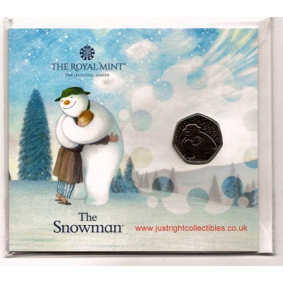 2020 UK The Snowman Certified Brilliant Uncirculated 50p