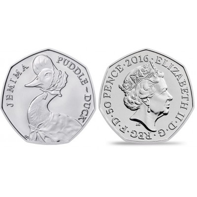 2016 Jemima Puddle-Duck 50p Brilliant Uncirculated Coin