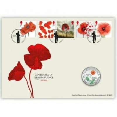 2019 The Remembrance Day £5 Brilliant Uncirculated Coin