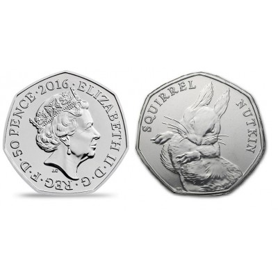 2016 Squirrel Nutkin 50p Brilliant Uncirculated Coin