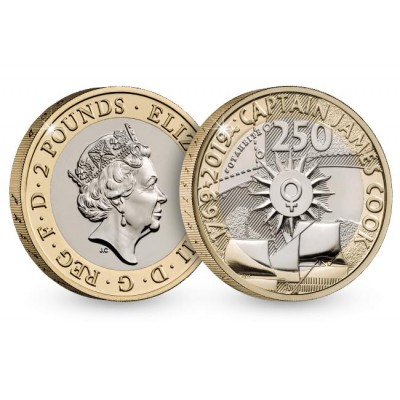 2019 Captain Cook Voyage Brilliant Uncirculated £2