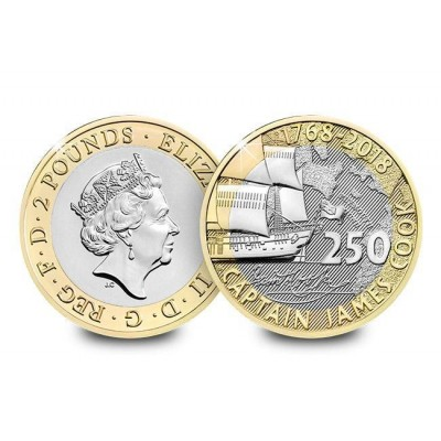 2018 Captain Cook Voyage Brilliant Uncirculated £2