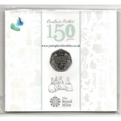 2016 Beatrix Potter 150th Anniversary 50p Brilliant Uncirculated Coin