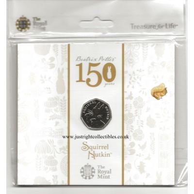 2016 Squirrel Nutkin 50p Brilliant Uncirculated Coin