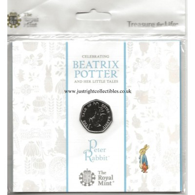 2017 The Tale of Peter Rabbit 50p Brilliant Uncirculated Coin