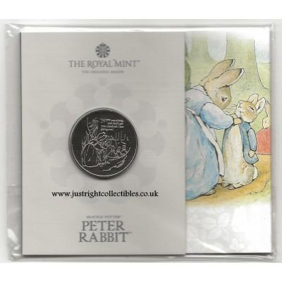 2021 Peter Rabbit UK £5 Brilliant Uncirculated Coin