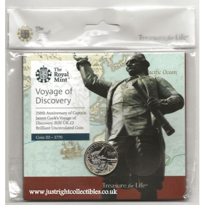 2020 Captain Cook £2 Brilliant Uncirculated Coin