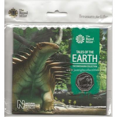 The Dinosauria Collection Hylaeosaurus 2020 UK 50p coin