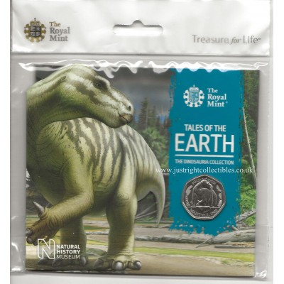 The Dinosauria Collection Iguanodon 2020 UK 50p coin