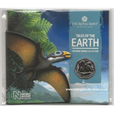 2021 Dimorphodon UK Brilliant Uncirculated 50p Coin