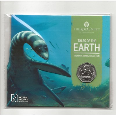 2021 Plesiosaurus UK Brilliant Uncirculated 50p Coin