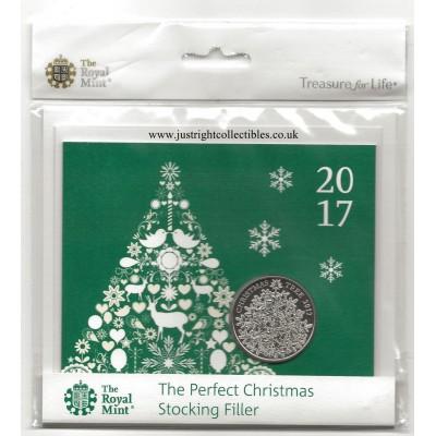 2017 UK Christmas Tree £5 Christmas Coin Brilliant Uncirculated