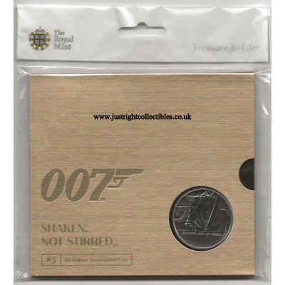 2020 James Bond UK £5 Coin Brilliant Uncirculated Shaken not stirred 007