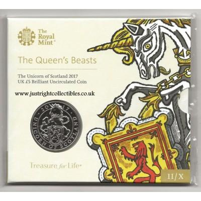 2017 The Unicorn of Scotland UK £5 Brilliant Uncirculated Coin