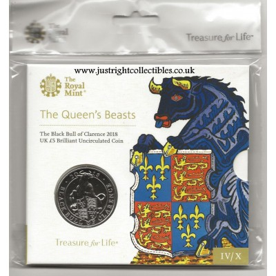 2018 The Black Bull of Clarence UK £5 Brilliant Uncirculated Coin