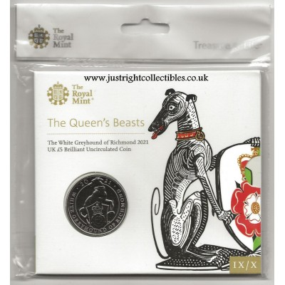 2021 The Greyhound of Richmond UK £5 Brilliant Uncirculated Coin