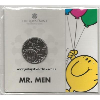 2021 Mr. Happy UK £5 Brilliant Uncirculated Coin