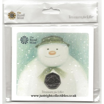 2018 Snowman and James 50p Coin Brilliant Uncirculated