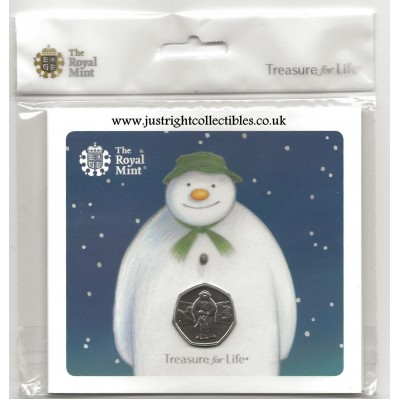 2019 The Snowman 50p Brilliant Uncirculated Coin