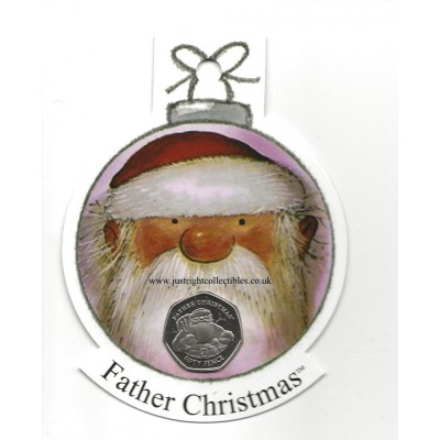 2018 Gibraltar Father Christmas 50p Coin in a Decoration DF